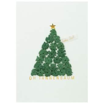 """Weihnachts Papierkunstkarte """"Oh Tannenbaum"""""""