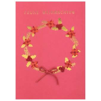 """Weihnachts Papierkunstkarte """"Frohe Weihnachten"""""""