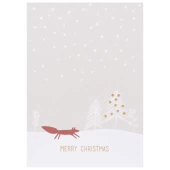 """Weihnachts Tierpostkarte """"Merry Christmas"""""""