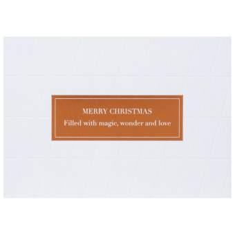 """Weiße Weihnachtspostkarte """"Merry Christmas"""""""