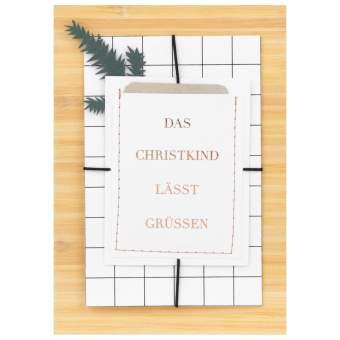 """Weihnachtsgeschenkkarte """"Das Christkind lässt grüßen"""""""