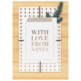 """Weihnachtsgeschenkkarte """"With love from Santa"""""""