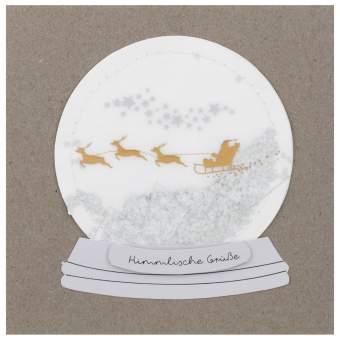 """Schneekugelkarte """"Himmlische Grüße"""""""