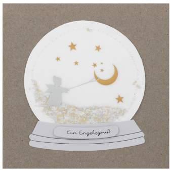 """Schneekugelkarte """"Ein Engelgruß"""""""
