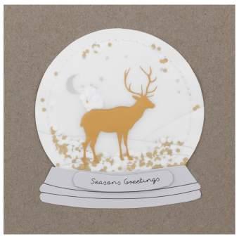 """Schneekugelkarte """"Seasons Greetings"""""""