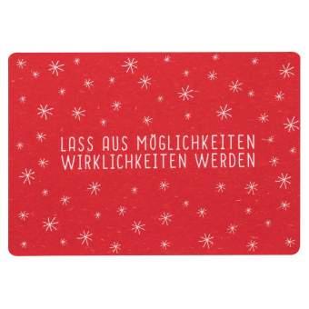 """Gute Wünsche Postkarte """"Lass uns Möglichkeiten"""""""