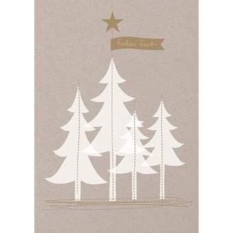 """Weihnachtsfaden Karte """"Winterwald"""""""