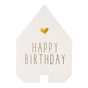 "Faltkarte Haus ""Happy Birthday"""