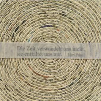 """Flechtkarte """"Die Zeit verwandelt uns nicht..."""""""