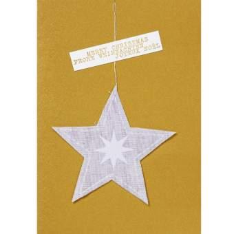 """Weihnachtsgazeanhänger Karte """"Stern"""""""
