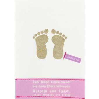 "Geburtskarte. ""Zwei Dinge sollen..."""