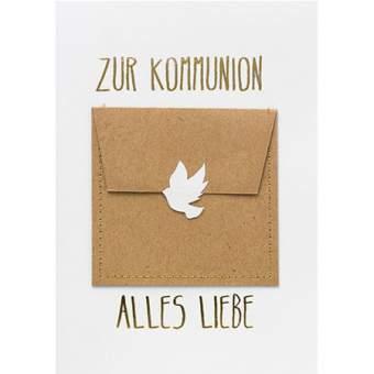 """Gutscheinkarte """"Zur Kommunion alles Liebe"""""""