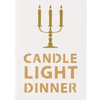 """Lichttüten Karte """"Candle Light Dinner"""""""