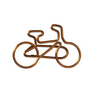 """Büroklammern Fahrrad """"kupfer"""""""