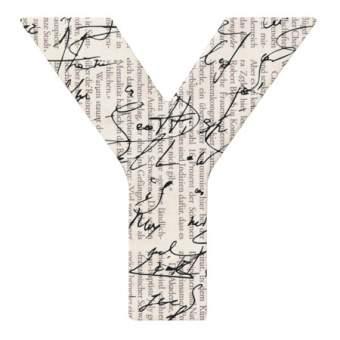 "Paper & Poetry. ABC Schachtel ""Buchstabe Y"""