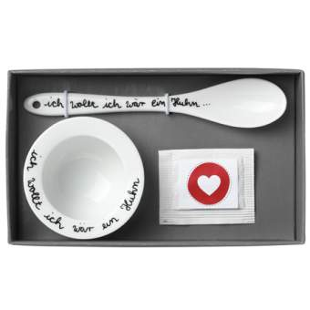 """Poesie et Table. Breakfast. Geschenkset """"Ich wollt ich wär ein Huhn"""""""