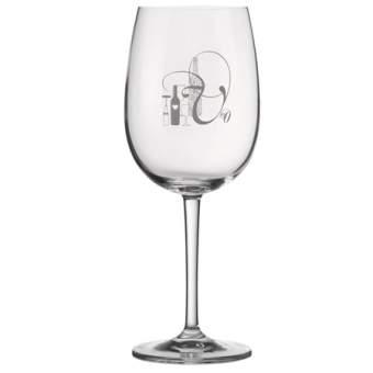 """Weinglas """"Flaschenmotiv"""""""