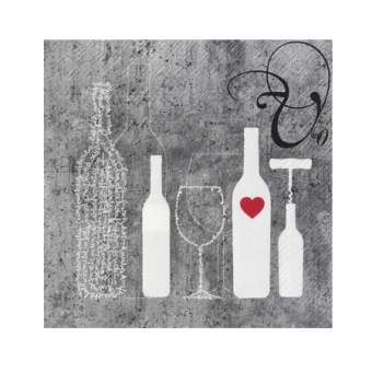 """Poesie et Table Vino Weinserviette """"Flaschen"""""""