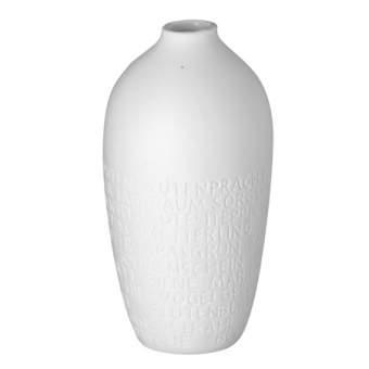 """Zuhause. Kleine Vase """"mit geprägtem Text zum Thema Blumen"""""""
