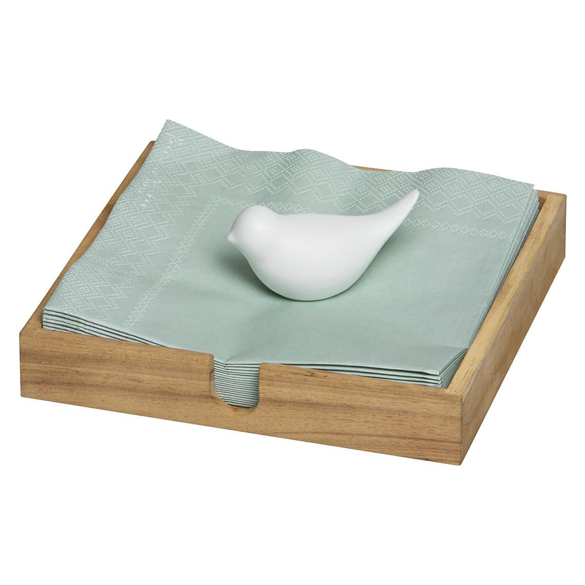 r der online shop serviettenhalter mit porzellanvogel online kaufen. Black Bedroom Furniture Sets. Home Design Ideas