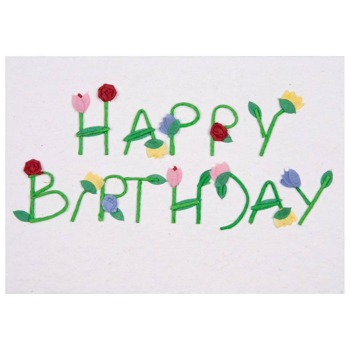 Happy Birthday Karte.Schrift Karte Happy Birthday