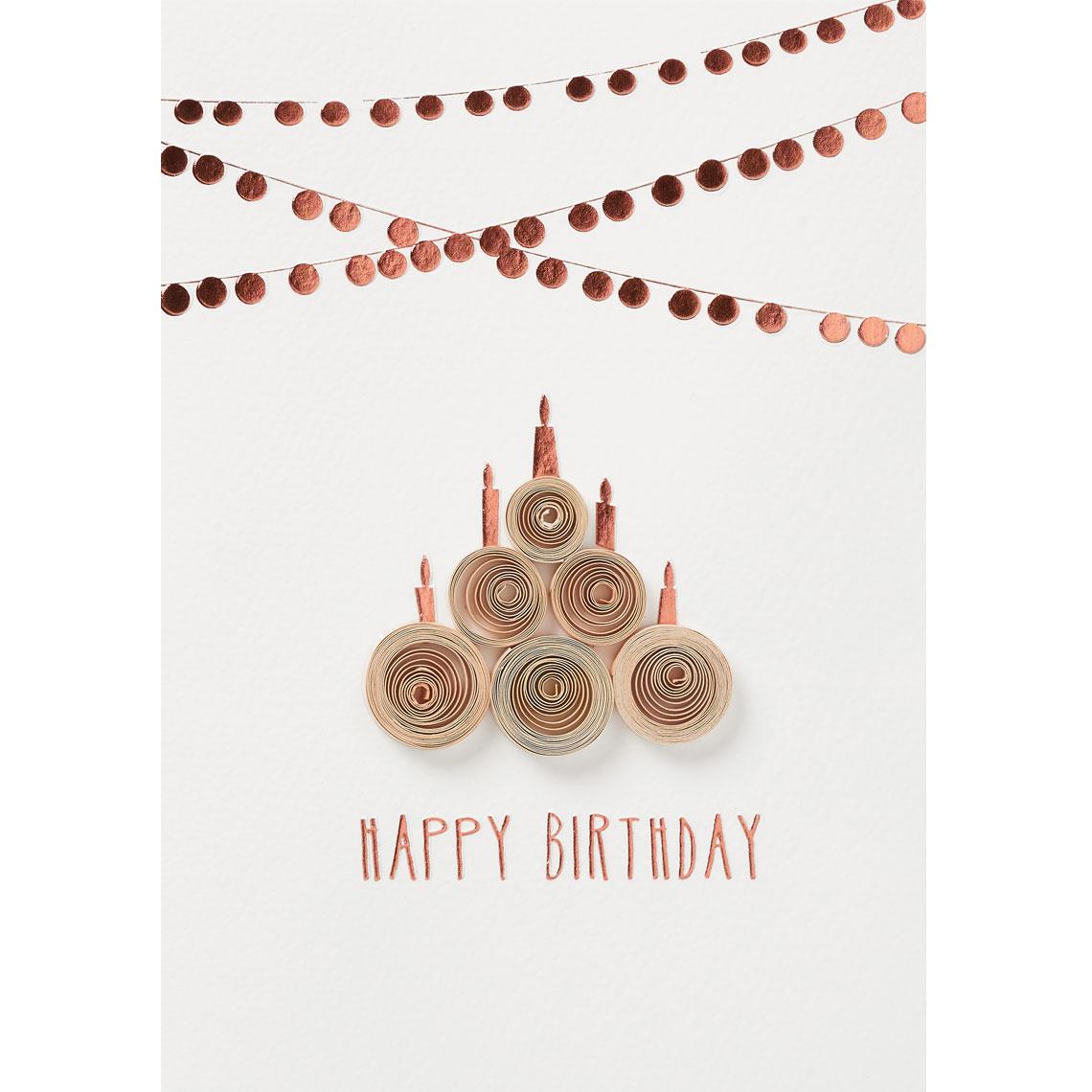 Happy Birthday Karte.Quilling Karte Happy Birthday