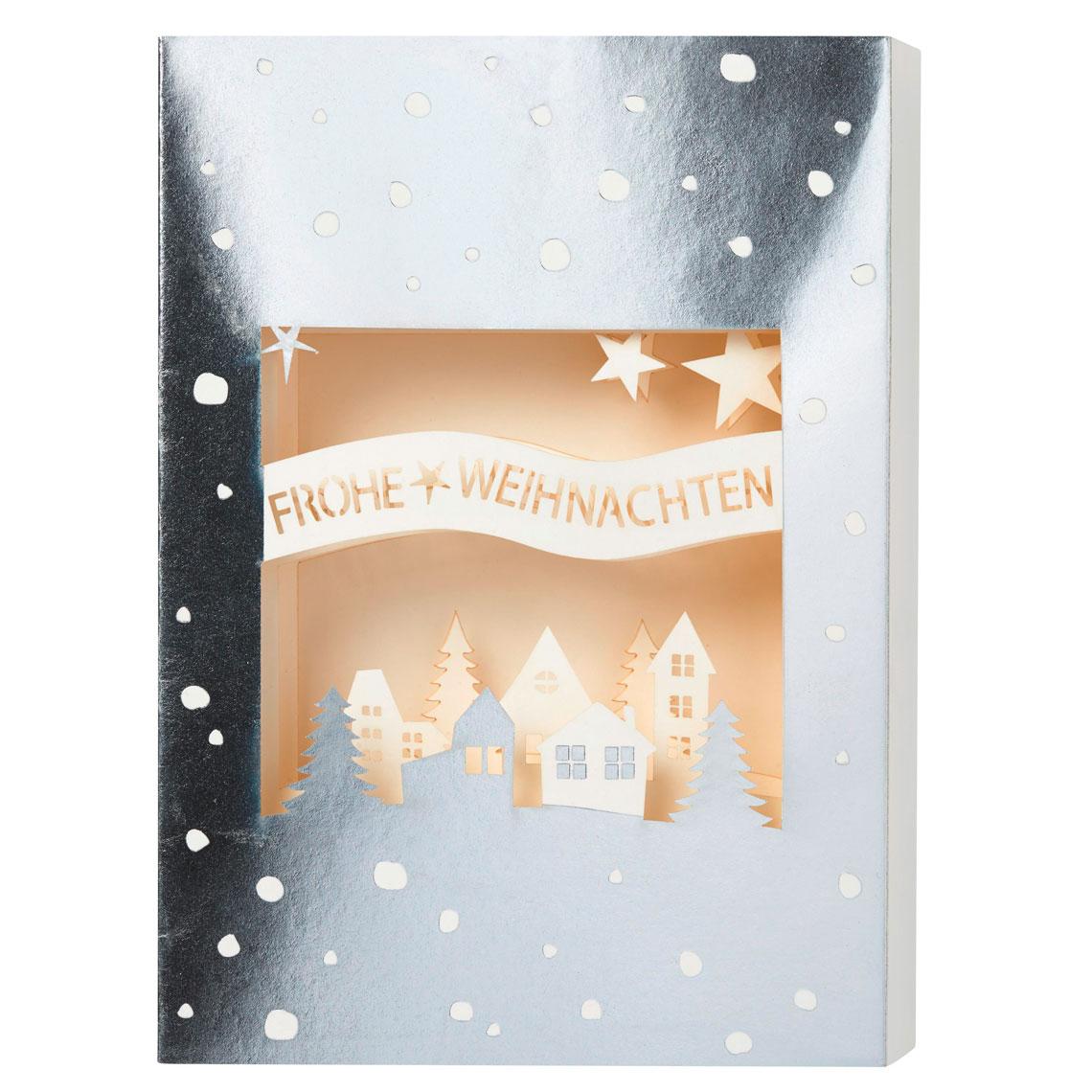 Karte Frohe Weihnachten.Christmas Lasercut Karte Frohe Weihnachten