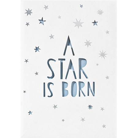 Baby Karte.Baby Lichttuten Karte A Star Is Born